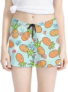 Honeystore Women's Pineapple Print Boardshorts Quick Dry Beach Swimming Trunks