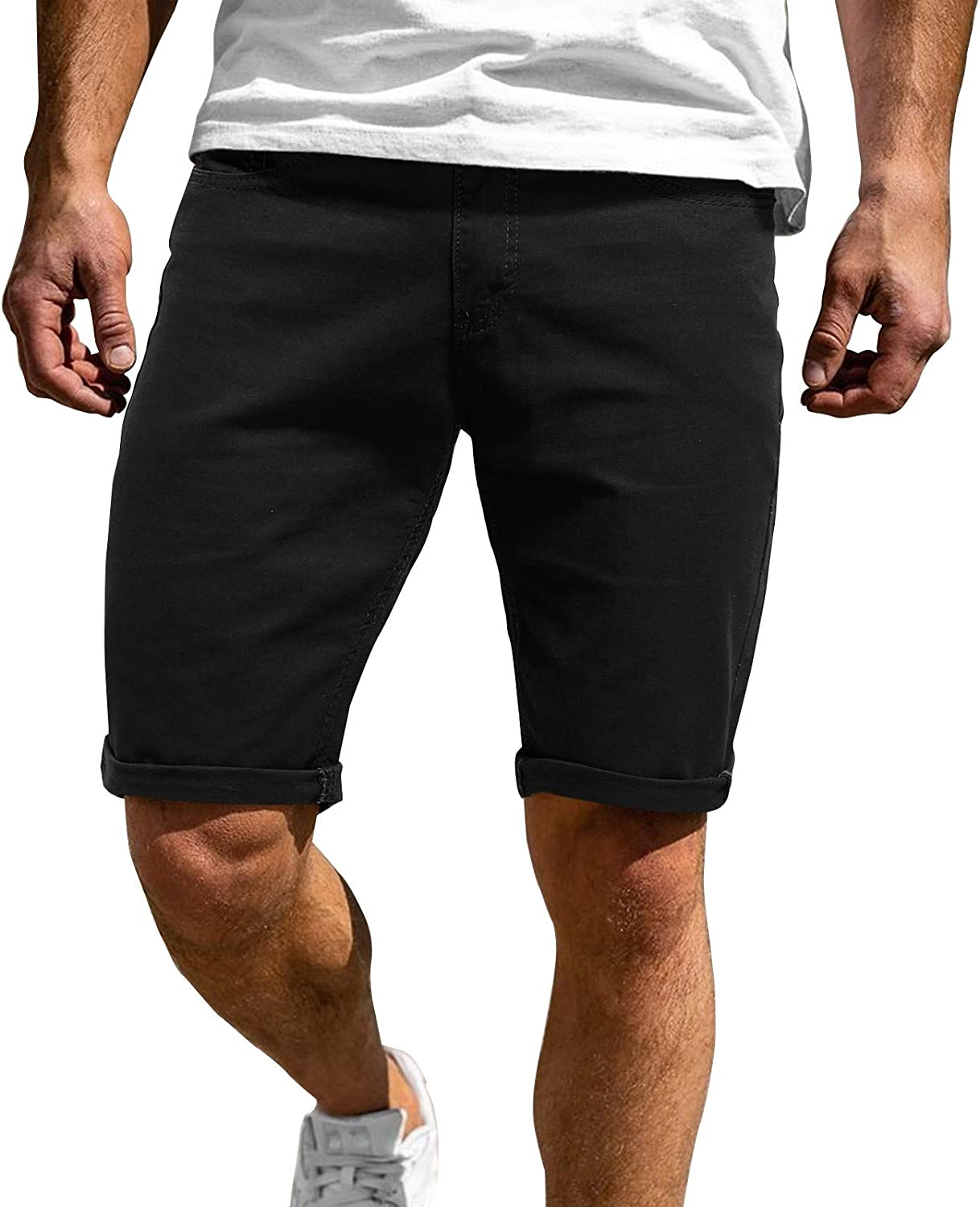 LEIYAN Mens 5 Inch Inseam Shorts Casual Elastic Waist Loose Fit Active Gym Workout Training Lounge Shorts Joggers