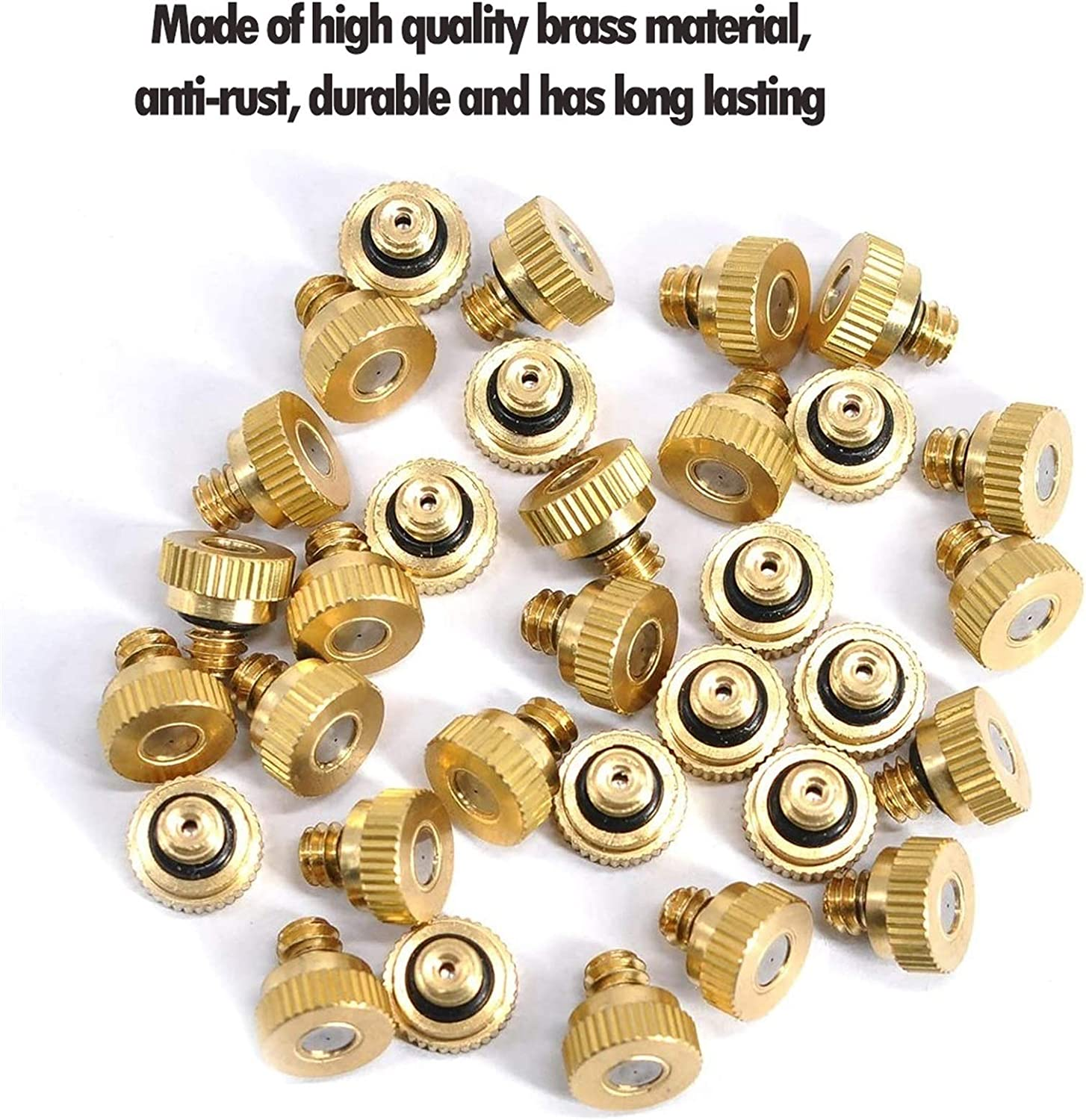 FWKTG 80PCS Brass Mister Nozzles Misting Nozzles for Cooling ...