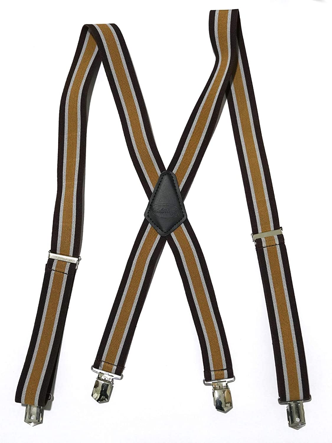 Melo Tough mens suspenders x style suspenders with durable clip