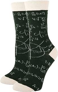 Women's Novelty Crazy Animal Crew Socks for Gifts, Fun Rainbow Unicorn Duck Math