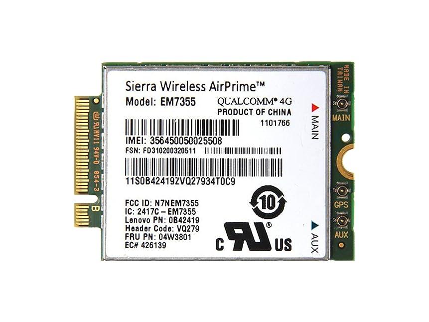 鷲臭い重要なLenovo純正 Sierra Wireless EM7355 Gobi 5000 LTE/EVDO/HSPA+ M.2 3G 4G ワイヤレスWAN WWANカード 04W3801 for Thinkpad X240, X1 Carbon, T431s, T440, T440s, T440p, T540p, W540, W541, L440, L540