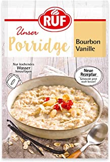 RUF Porridge Bourbon Vanille mit Vollkorn-Haferflocken und natürlicher Bourbon-Vanille, 1 x 65 g