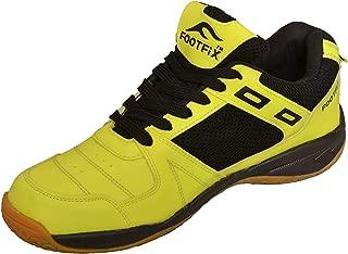 FOOTFIX Squash Unisex (Non-Marking) Badminton Shoes Fluorescent Green