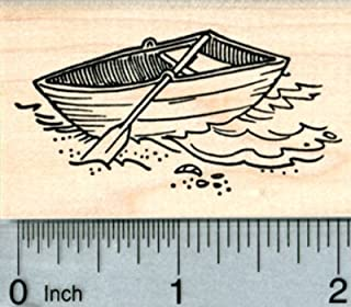 Dinghy Rubber Stamp, Row Boat, Nautical Travel Series
