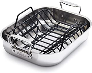 All-Clad Stainless Steel Small 14 x 11 Inch Roaster with Rack