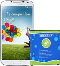 Galaxy S4 Battery Amyant 3000mAh Li-ion Battery Replacement for Samsung Galaxy S4, Galaxy S4 Active, AT&T I337, Verizon I545, Sprint L720, T- Mobile M919, R970, I9500, I9505, Galaxy S4 LTE I9506