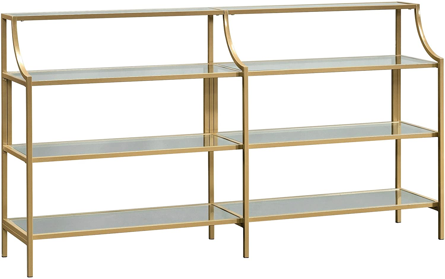 Sauder 424975 Curiod Console Satin Gold Max 70% OFF Table Ranking TOP18