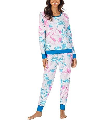 BedHead Pajamas Long Sleeve Crew Neck Joggers Set (Cotton Spandex)