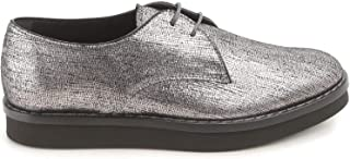 TOD'S Women's XXW0WX0L150SHMB200 Silver Leather Lace-Up Shoes