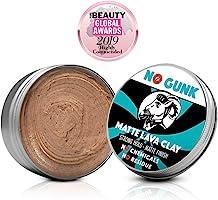NO GUNK Arcilla Pasta Cera de Peinado Mate - 100% Natural Orgánica Para Pelo - Fijación Fuerte - De Ganador del Mejor...