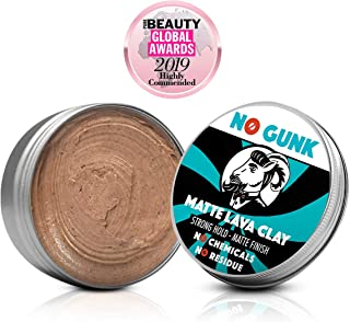 NO GUNK 100% Natural Hair Styling Clay For Men - Strong Hold