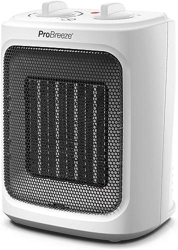 Pro Breeze Mini Radiateur Céramique 2000 W - 3 Niveaux de Puissance - Chauffage d'appoint Compact pour bureau, chambr...