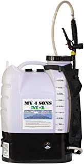 M4 MY4SONS 4-Gallon Battery Powered Backpack Sprayer Wide Mouth with Steel Wand and Brass..