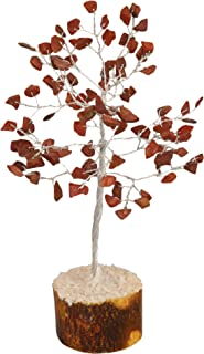 PYOR Red Jasper Feng Shui Bonsai Money Tree Reiki Healing Positive Energy Generator Aura Cleansing Good Luck Decor Chakra ...
