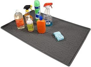 Xtreme Mats Under Sink Kitchen Cabinet Mat, 33 5/8 x 21 7/8, Grey