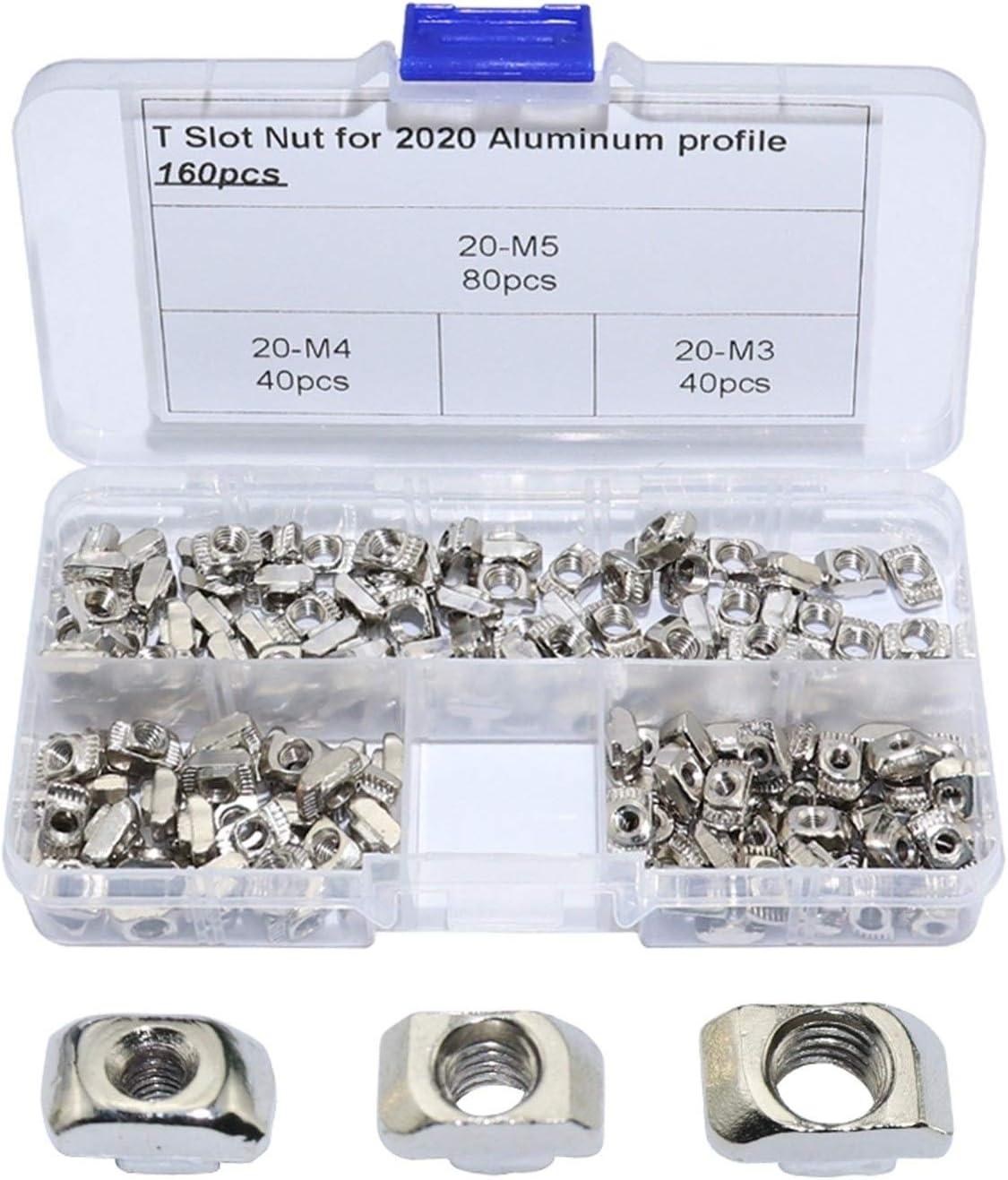 DUO ER 160pcs T Nut Assortment Kits M4 M5 E Aluminum M3 Our shop most popular 2020 Topics on TV for