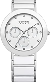 BERING Time 11438-754 Womens Ceramic Collection Watch with Stainless Steel Band and Scratch Resistant Sapphire Crystal. Designed in Denmark.