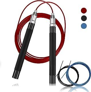 TOCO FREIDO なわとび 縄跳び 金属製 トレーニング ダイエット 軽量 長さ調整可能 交換用ロープ付き