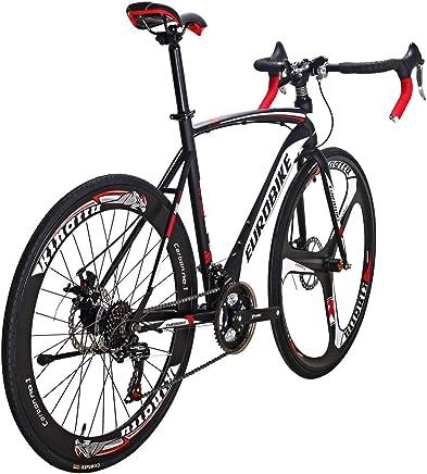 d20c01cae13 EUROBIKE Road Bike EURXC550 21 Speed 49 cm Frame 700C Wheels Road Bicycle  Dual Disc Brake