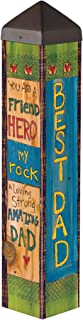 Studio M A Father's Love Art Pole Outdoor Decorative Garden Post, Made in USA, 20 Inches Tall