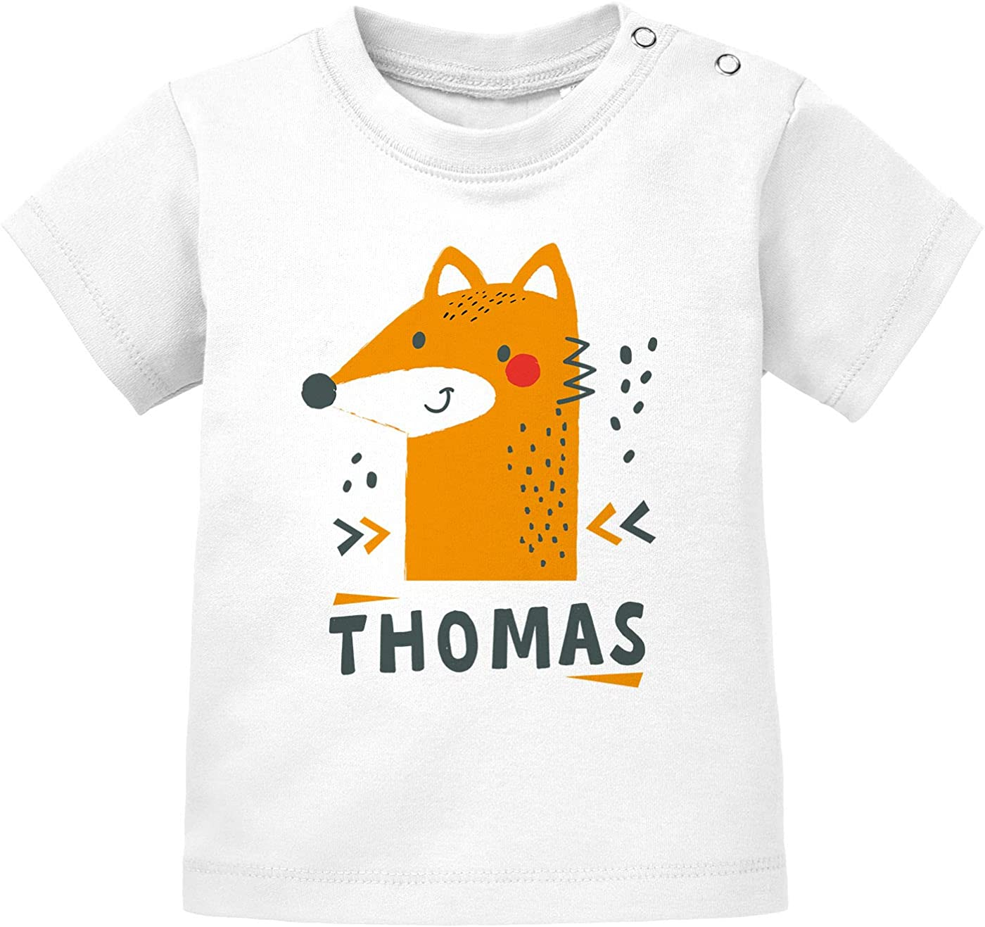 SpecialMe/® Baby Langarmshirt mit Name und Zahl 1 zum ersten Geburtstag Motiv Stern Geburtstagsshirt Junge//M/ädchen