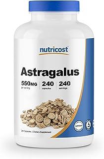Nutricost Astragalus Capsules 550mg, 240 Capsules - Non-GMO and Gluten Free