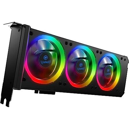 Anidees Grafikkartenkühler Mit 3 X 80 Mm Pwm Lüfter Computer Zubehör