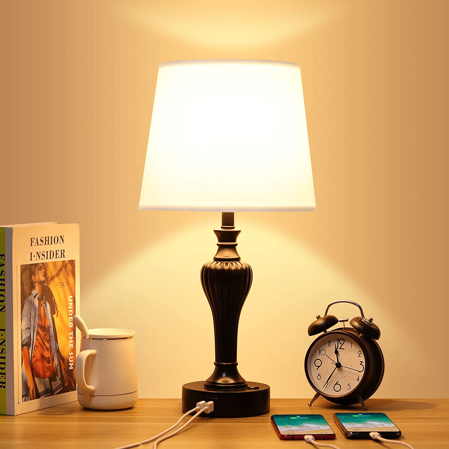 Max 78% OFF Zermurd Touch Control Bedside Lamp Dimmable Way 3 Oakland Mall Table wi
