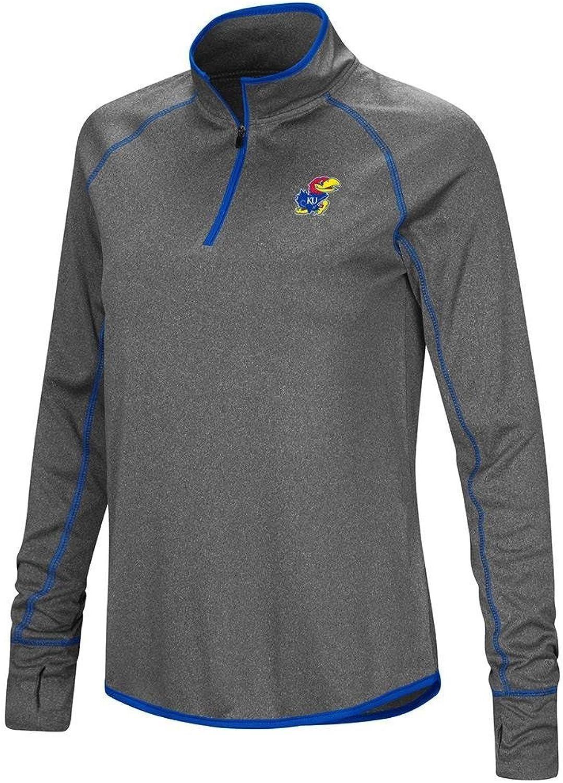 Colosseum Womens Kansas Jayhawks Quarter Zip Wind Shirt