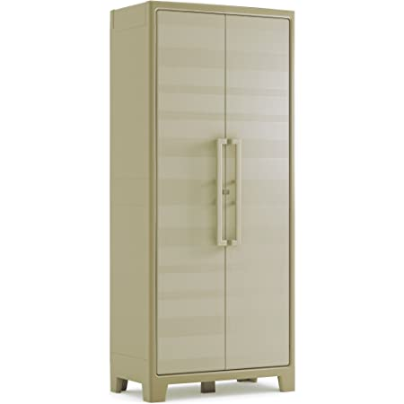 KETER | Armoire haute Gulliver - EPACK, Beige/Sable, Cabinets, 80x44x182 cm