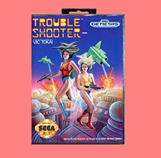 Trouble Shooter 16 Bit Md Game Card With Retail Box For Sega Genesis & Mega Drive