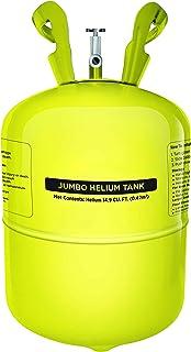 Party Balloon Helium Tank - 50 Balloons Kit, Yellow