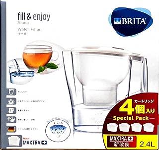 ブリタ アルーナ 2.4L (浄水部容量1.4L) マクストラ専用 カートリッジ 4個付