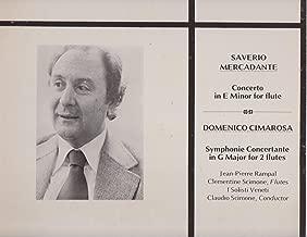 Saverio Mercadante Concerto in E Minor for Flute Domenico Cimarosa Symphonie Concertante in G Major From 2 Flutes [Vinyl, Lp, Album]