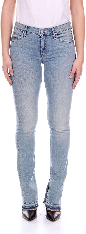Mother Women's 1394194blueE bluee Cotton Jeans