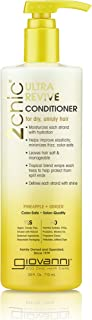 Giovanni Hair 2chic Ultra-Revive Conditioner with Pineapple & Ginger, 24 oz, Deep Conditioning for Dry Unruly Hair, Jojoba, Guava, Aloe Vera, Pro-Vitamin B5, Sulfate Free