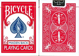 Bicycle Maiden Back Playing Cards in Red