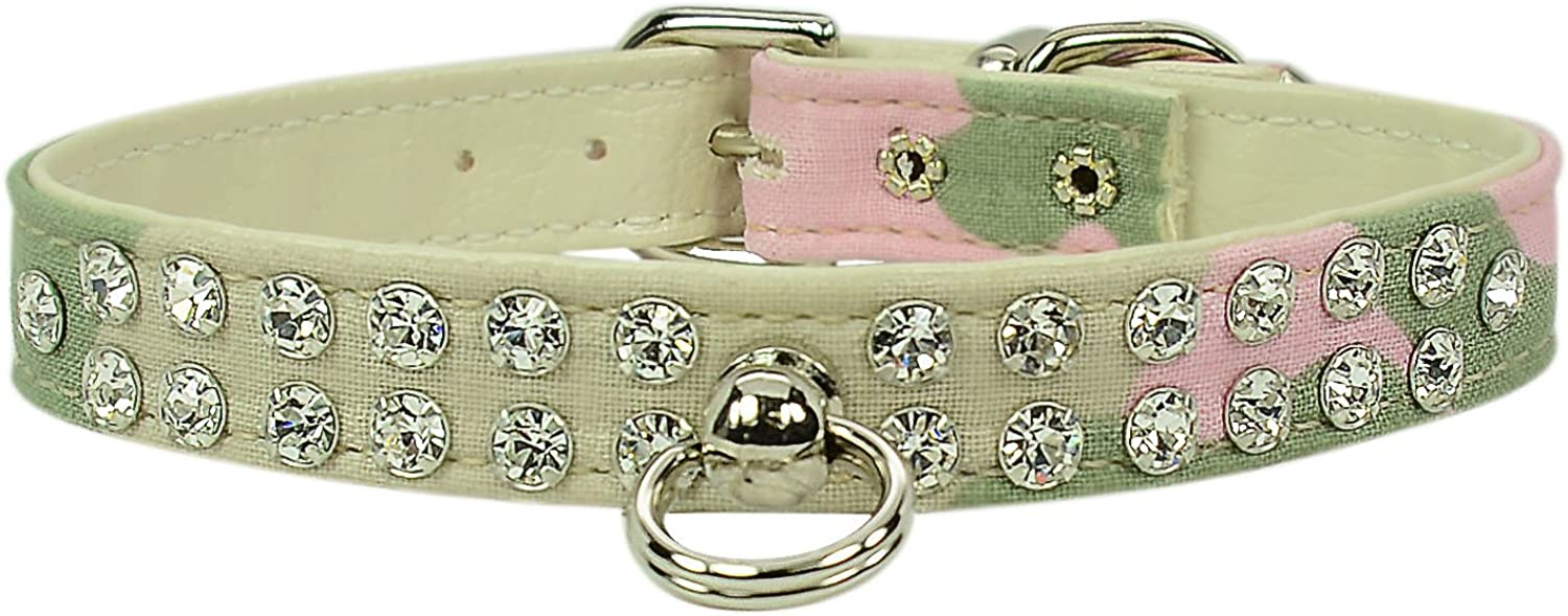 Evans Collars 1 2  Jeweled Collar, Size 12, Camouflage, Pink