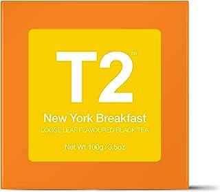 T2 Tea New York Breakfast Loose Leaf Black Tea in Box, 3.5 Ounce (100g)