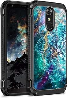BENTOBEN LG Stylo 4 Phone Case, LG Stylo 4 Plus Case, LG Q Stylus Case, Hybrid Soft TPU Bumper Hard PC Shockproof Glow in The Dark Luminous Noctilucent Protective Case for LG Stylo 4,Mandala in Galaxy