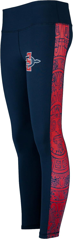 Twin Vision Activewear San Diego State SDSU Aztecs Full Length Aztec Calendar Yoga Pant Leggings Black