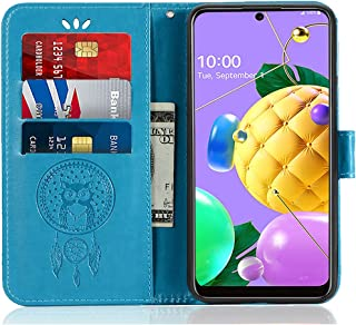 SCIMIN Capa de couro para LG K52, capa carteira para LG K52, capa flip floral em couro PU com suporte para cartão de crédi...