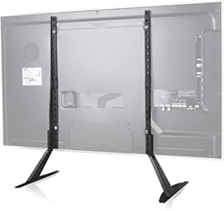 WALI Universal TV Stand Table Top for Most 22 to 65 inch LCD Flat Screen TV, VESA up to 800 by 400mm , Black