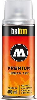 Molotow Belton Premium Artist Spray Paint, 400ml Can, Clear Coat Matte Transparent, 1 Each (327.313)
