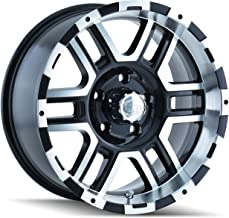 Ion Alloy 179-6883B Style Black Wheel with Machined Face/Lip (16x8