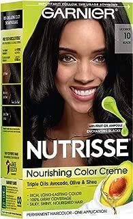 Garnier Nutrisse Nourishing Color Creme Black [10] 1 ea (Pack of 5)