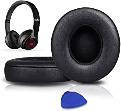 Professional Earpads Cushions Replacement, Ear Pads Compatible with Beats Solo 2 & Solo 3 Wireless On-Ear Headphones with ...