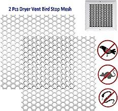 Dryer Vent Bird Stop - Dryer Vent Grill Sheet - Bird Stop Mesh Metal Screen - Exhaust Vent Guard - Stop Birds Nesting Cover for Dryer Vents Bathroom Exhaust Vents, 3