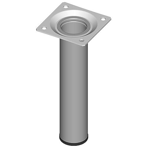 Element System 18133-00258 Pied Tubulaire en Acier L 150 mm Ø 30 mm Alu Blanc 4 pièces